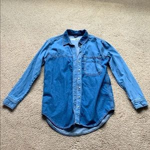 Top shop jean button up shirt size 4